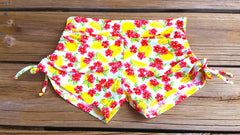Adjustable Drawstring-side Yoga Shorts in Lemonlicious