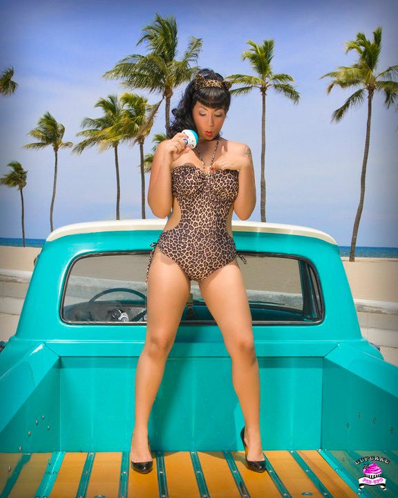 Leopard Lounge Bandeau Drawstring Monokini ~Fabric Temporarily Out of Stock