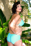 Leopard Lounge (Baby Blue) Triangle Top & Hip Hugger Bottom