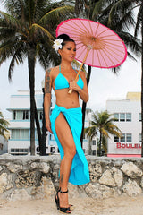 Ocean Drive Long Wrap Skirt