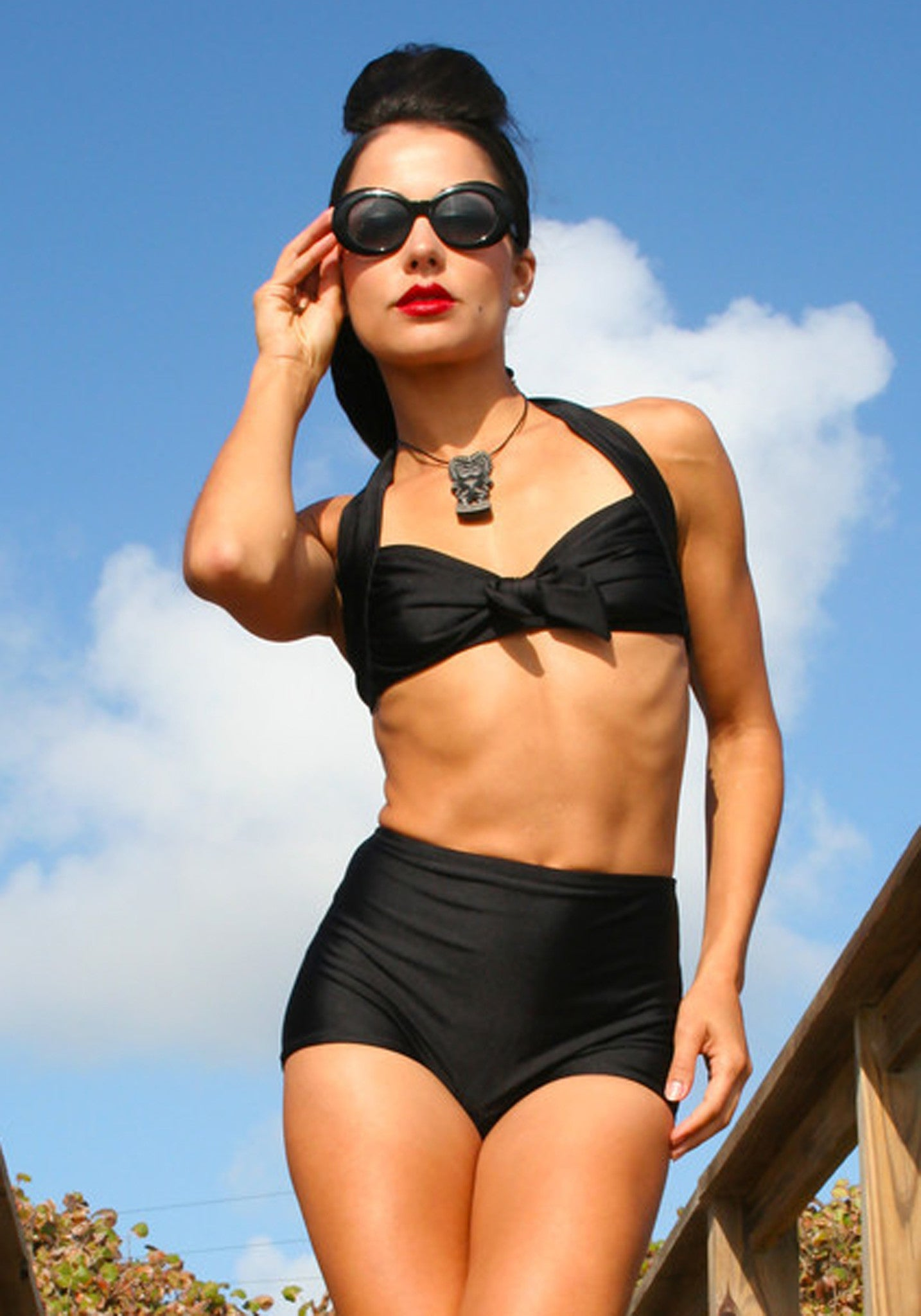 Bad Betty Retro High Waisted Bikini Bottoms