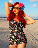 Sugar Skulls Bandeau Dress Front One Piece ~Fabric Temporarily Out of Stock