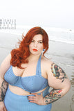 Plus Size Elly May Halter Underwire Top & High Waist Bottom