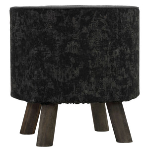 Cortesi Home Oakdale Accent Chair with Removable Cotton Cover, Dark Grey