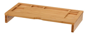 Cortesi Home Jake Bamboo Monitor Stand Table