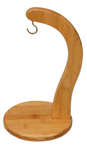 Cortesi Home Natural BambooToni Banana Hanger with Hook to Keep your Bananas Fresh Longer