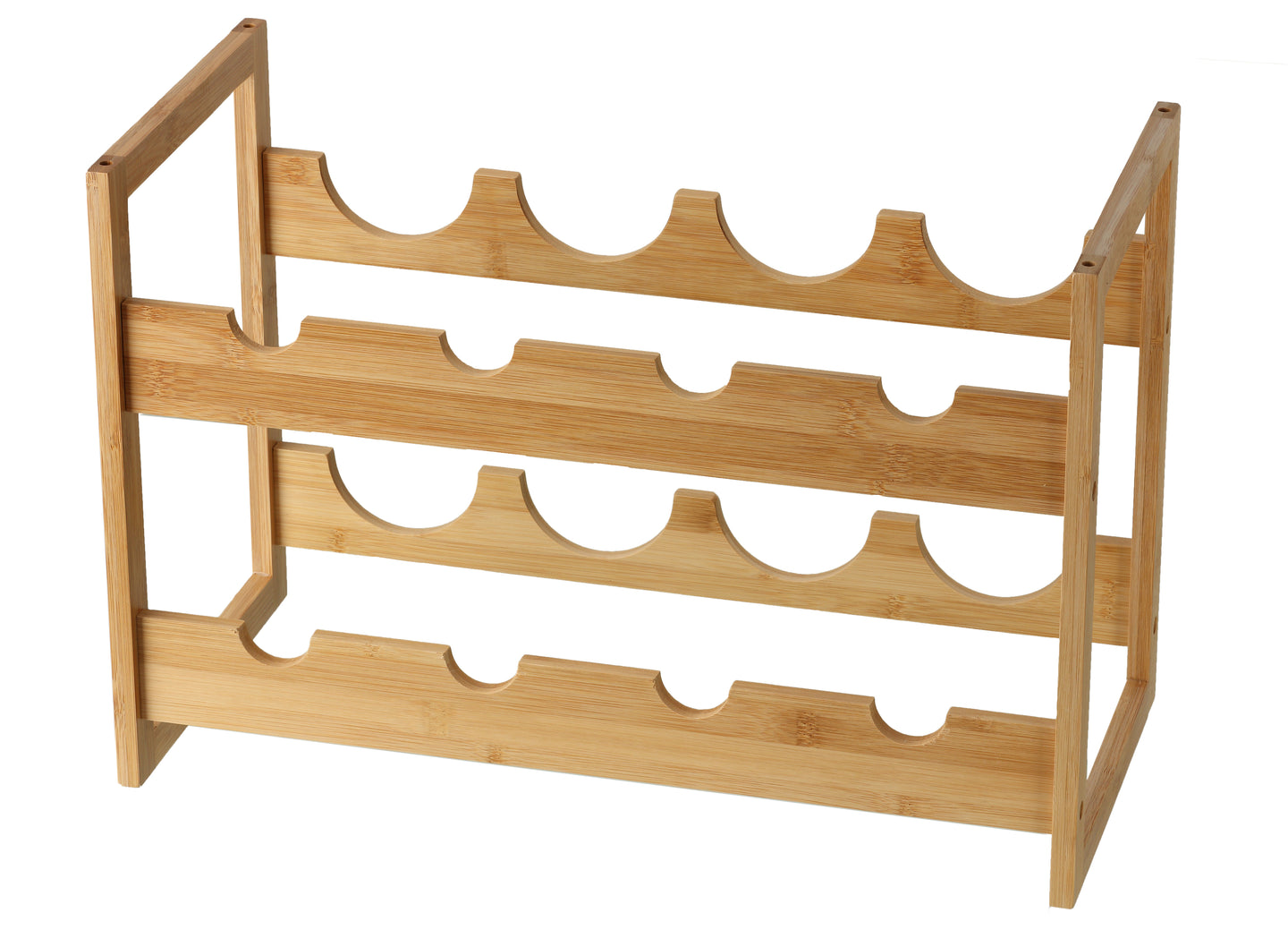 Cortesi Home Napa Natural Bamboo Stackable 2 Tier Wine Rack, Holds 8 Bottles 19