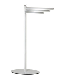 Noli Contemporary 3 Swing Arm Towel Stand, Brushed Aluminum