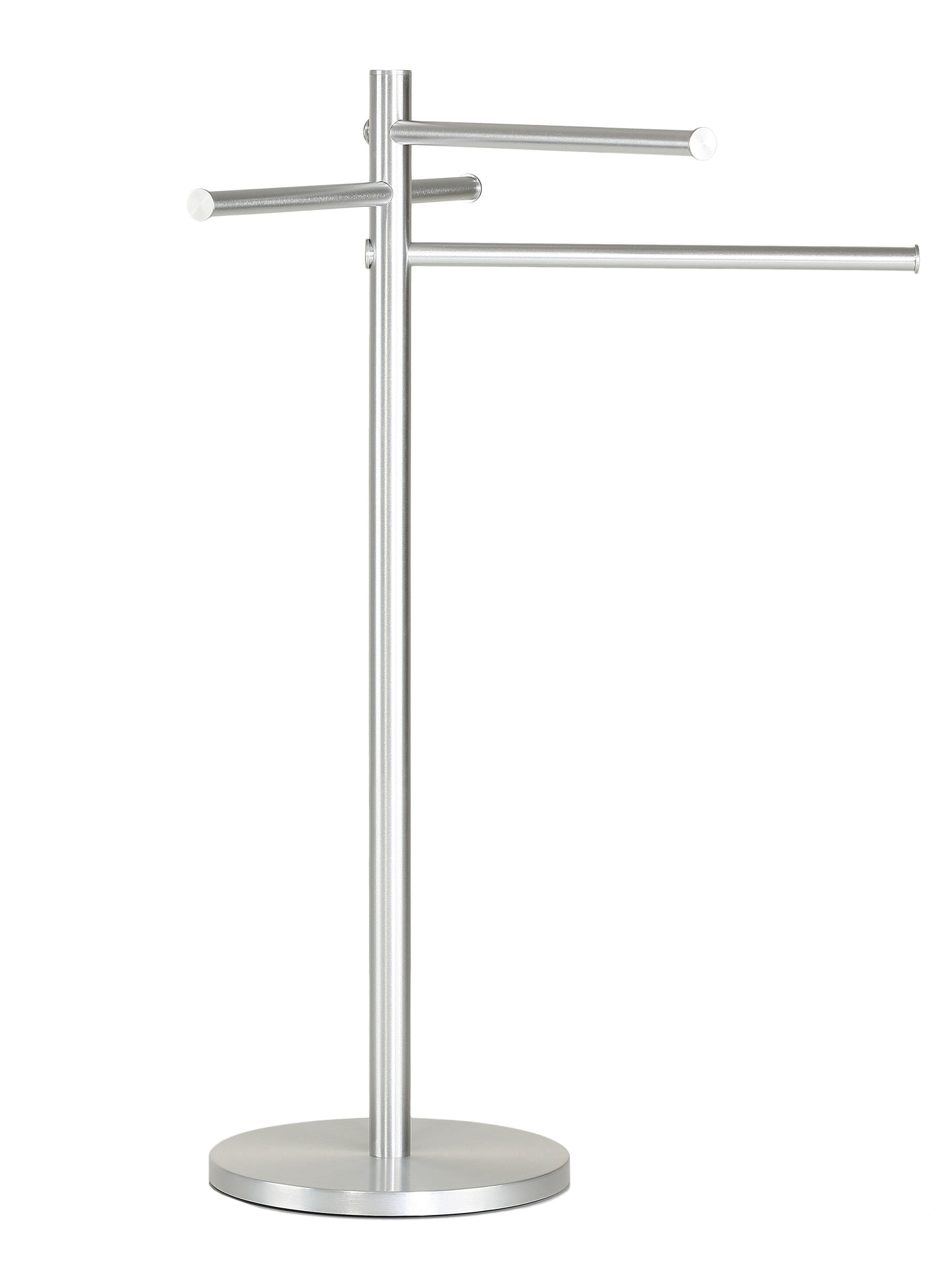 Emmi Contemporary Aluminum Sliding 3 Tier Towel Holder Stand, Brushed