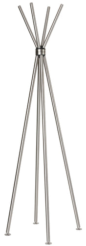 Cortesi Home Deacon Contemporary Stainless Steel Coat Rack, Brushed Nickel