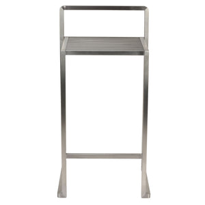 Cortesi Home Zeus Counter-height Stool in Brushed Stainless Steel