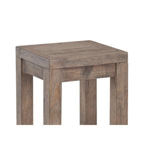 "Cortesi Home Stonemill Counter Stool 25.5"", in Reclaimed Solid Wood, Distressed Light Brown"