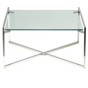 Cortesi Home Celia Glass Coffee Table, 30""