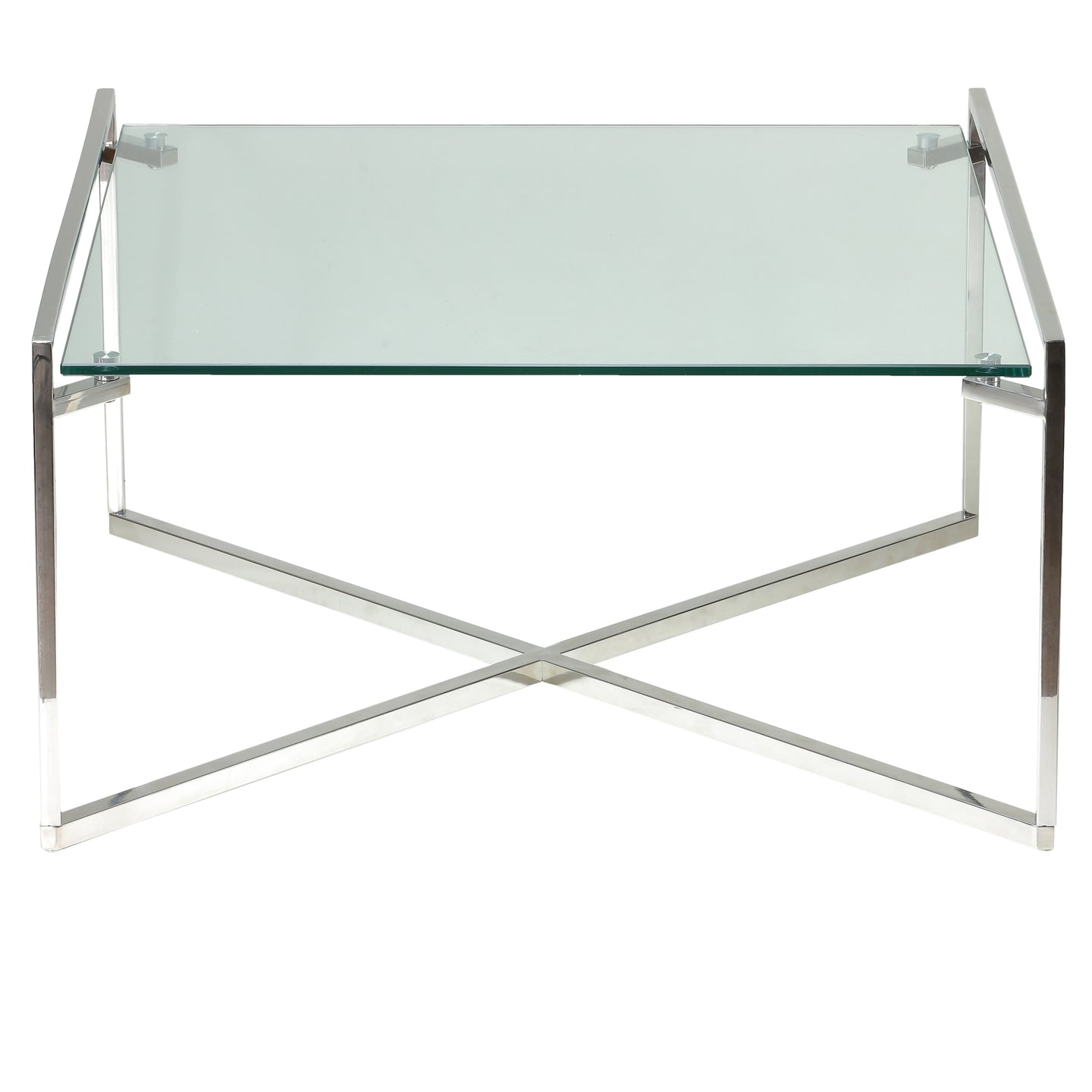 Cortesi Home Celia Glass Coffee Table, 30