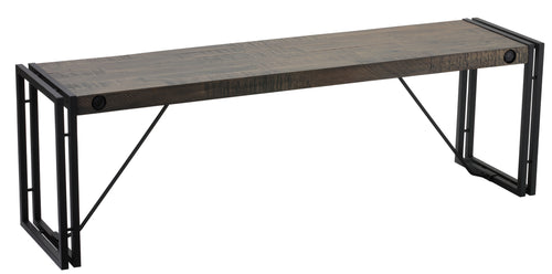 Cortesi Home Thayer Driftwood Bench with metal frame
