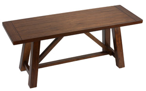 "Cortesi Home Birmingham Solid Wood Dining Bench in Walnut Finish in Walnut Finish in Walnut Finish, 44"" Wide"