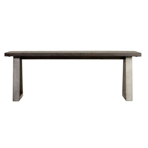 "Cortesi Home Zachary 49"" Wood Dining Bench with Metal Frame"