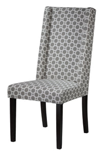 Cortesi Home Jenna Dining Chair in Grey Pattern Fabric (Set of 2)