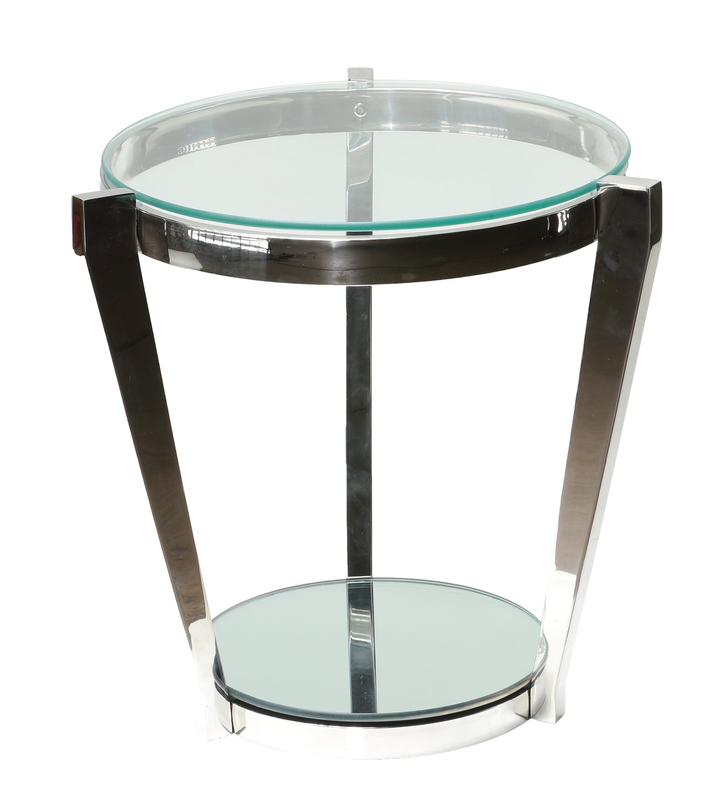 Cortesi Home Simba Double Shelf End Table, 20