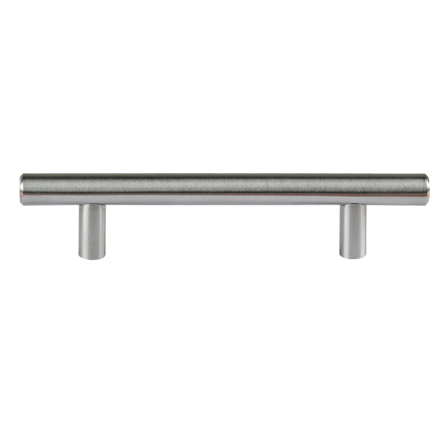 Cortesi Home Stockholm Contemporary T Bar Cabinet Pulls Kitchen Door Handles, 6 Inch (120mm) Length in Brushed Aluminum, 10 Pack
