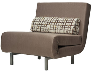 Cortesi Home Savion Taupe Convertible Accent Chair Bed