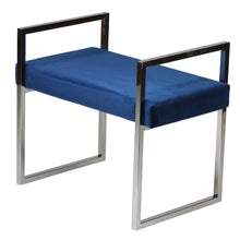 Cortesi Home Anna Contemporary Velvet Bench, Blue