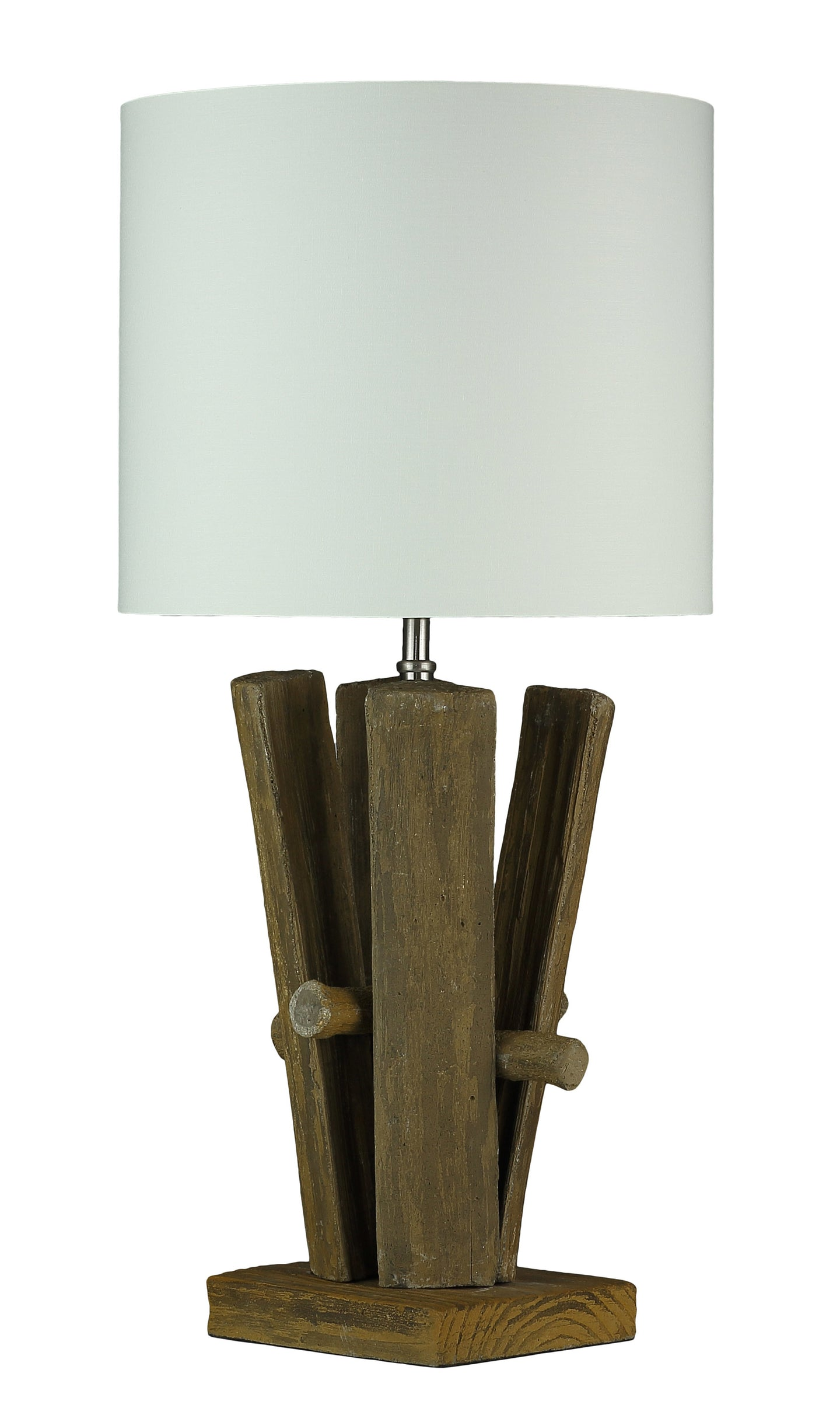 Cortesi Home Yellowstone Table Lamp with a Cream Shade