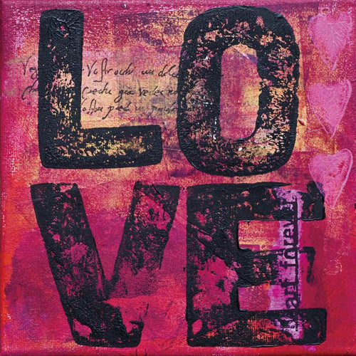Cortesi Home All You Need is Love Tempered Glass Wall Art, 24