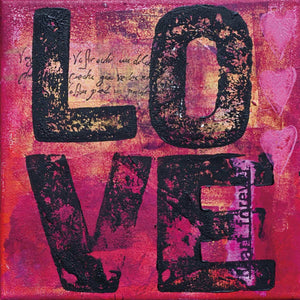 "Cortesi Home All You Need is Love Tempered Glass Wall Art, 24"" x 24"""