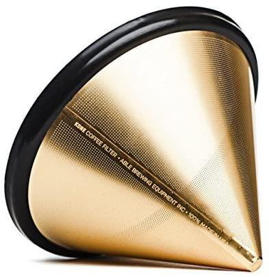 Able Stainless Steel Kone Coffee Filter 18K GOLD Plated - Rocanini Coffee Roasters