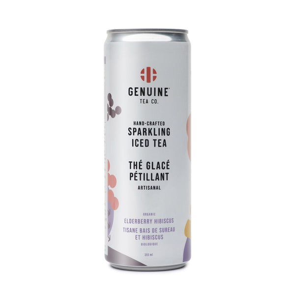 Organic Elderberry Hibiscus sparkling iced tea - Rocanini Coffee Roasters