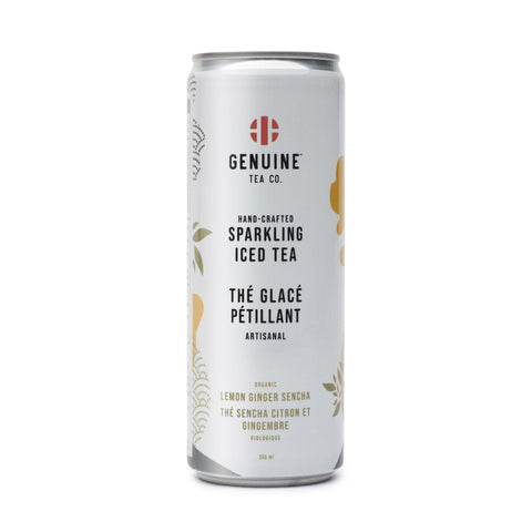 Organic Lemon Ginger Senchas sparkling iced tea - Rocanini Coffee Roasters