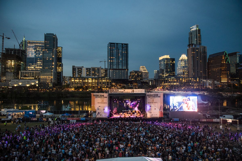 Crowd at music festival from South by Southwest 2018