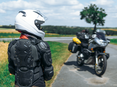 Armor for body protection is important motorcycle safety gear.