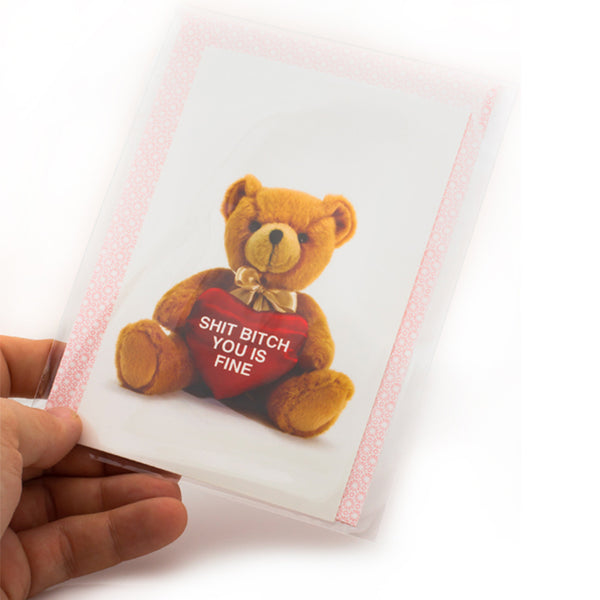 Shit Bitch Bear Valentine's Card