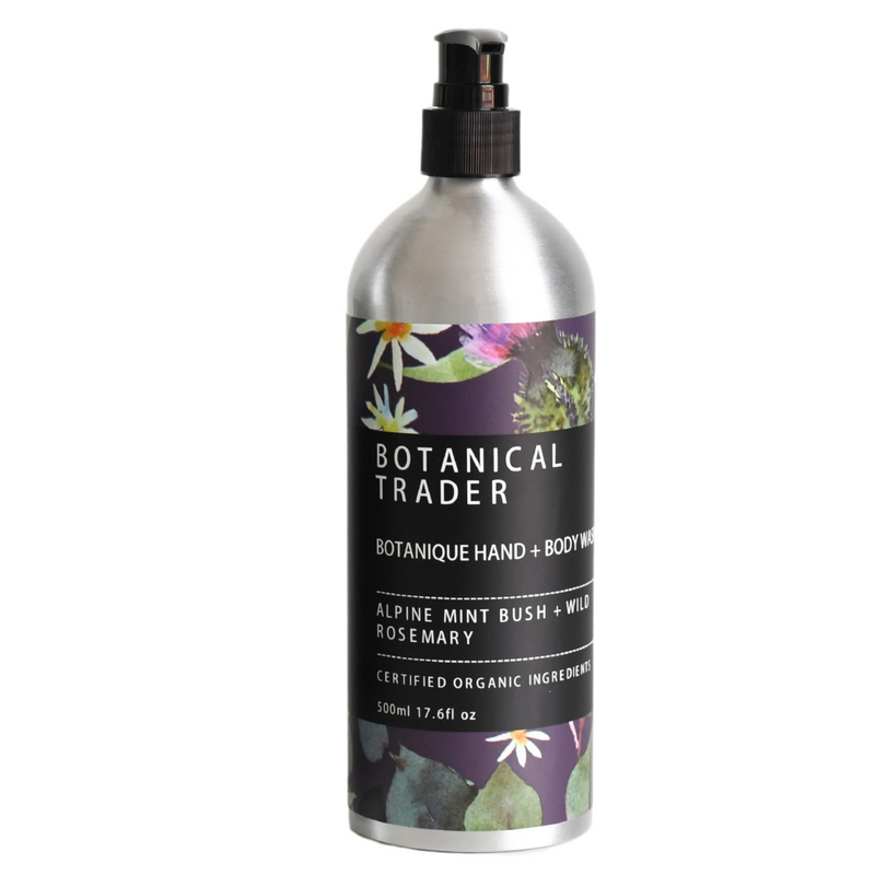 Natural Organic Hand + Body Wash: Alpine Mint Bush + Wild Rosemary