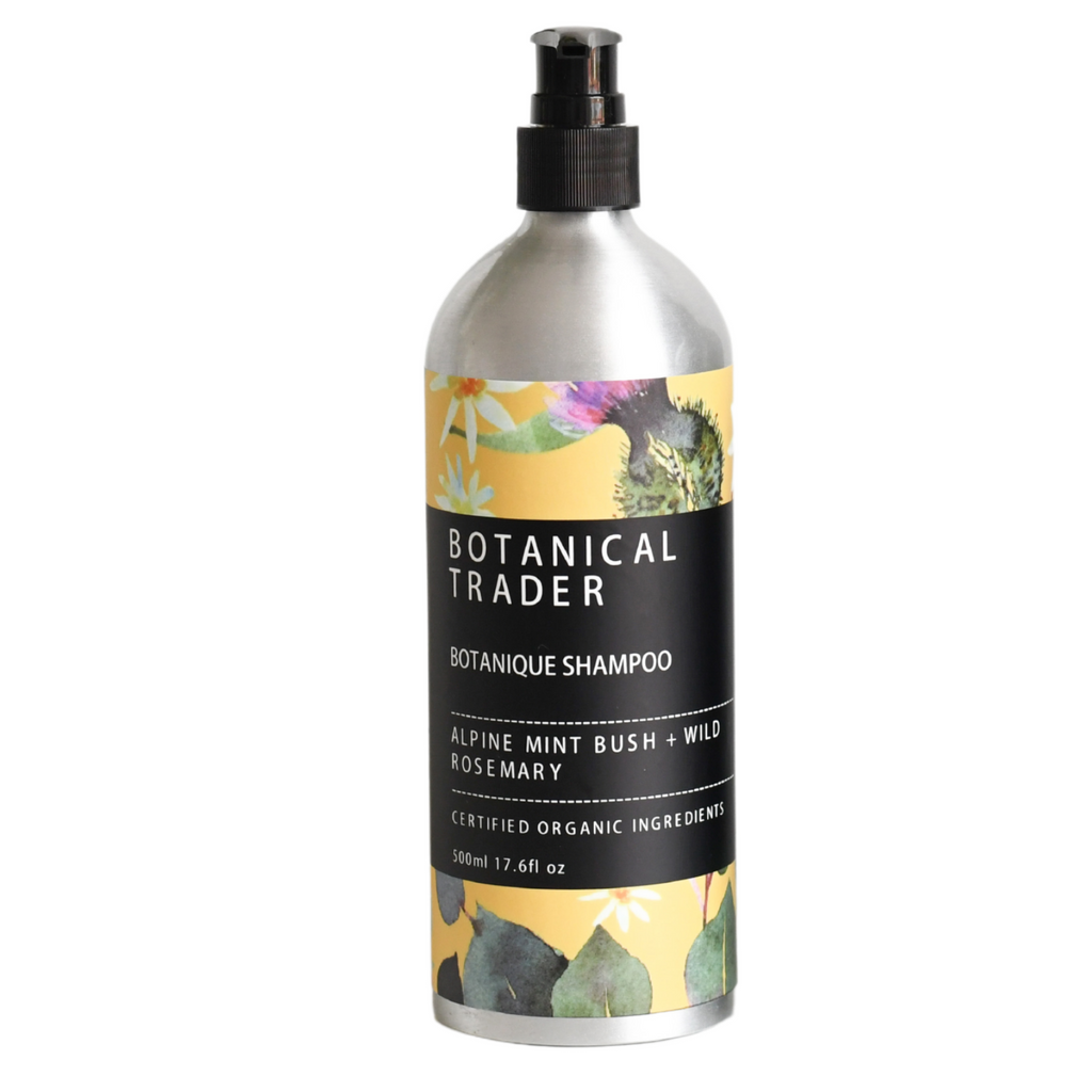 Natural Organic Shampoo: Alpine Mint Bush + Wild Rosemary