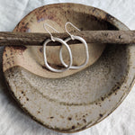 Minimalist Organic Shaped Hoops [Hand-Made With Recycled Sterling Silver]
