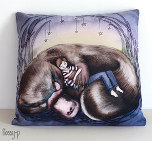 Platypus: Cute Australiana Wildlife Cushion Cover With Original Art By Flossy-p