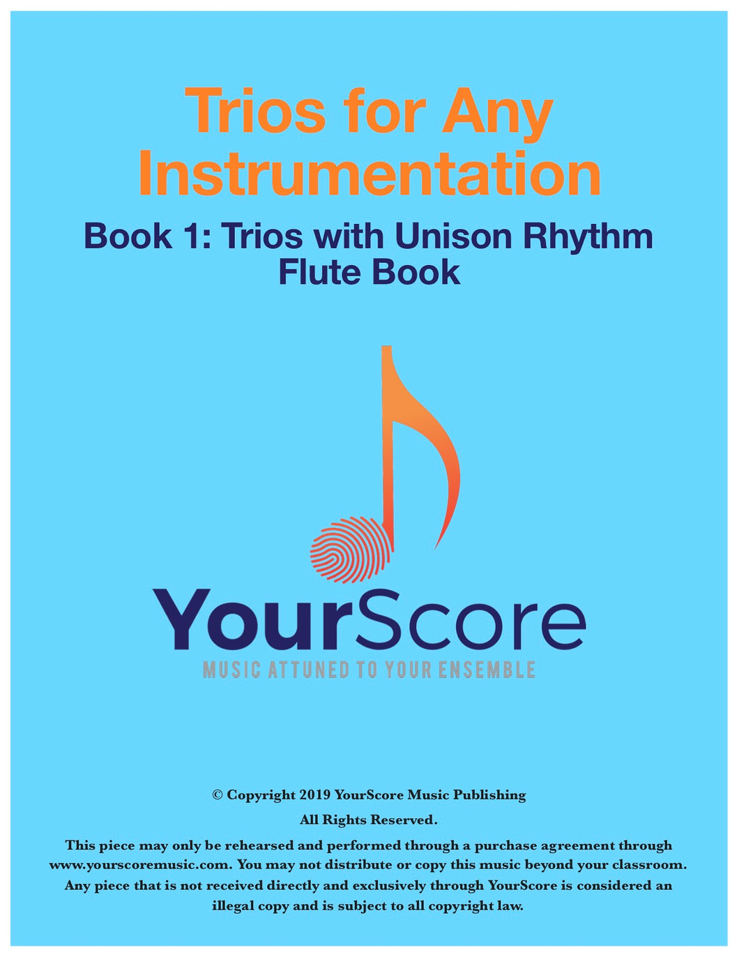 Cover of Trios for Any Instrumentation, a collection of trios for any instruments.