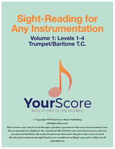 Cover page of Sight Reading for Any Instrumentation (Sight Reading for Band)