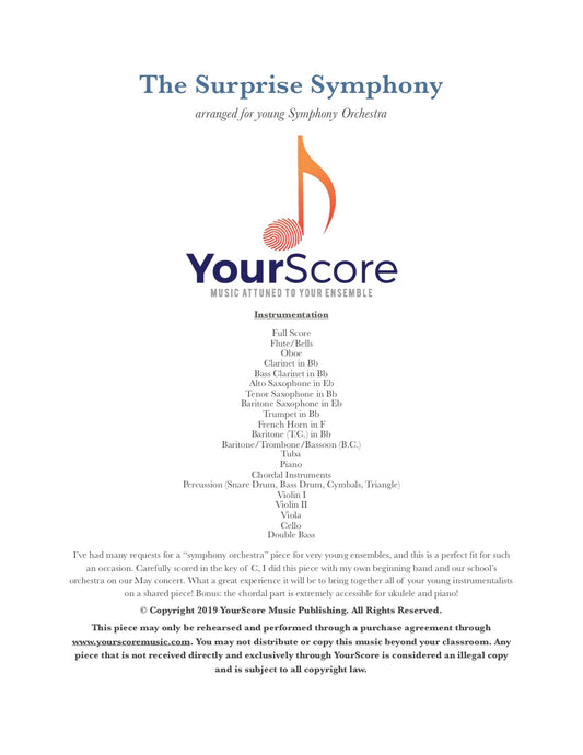 The Surprise Symphony (Music for All Series)