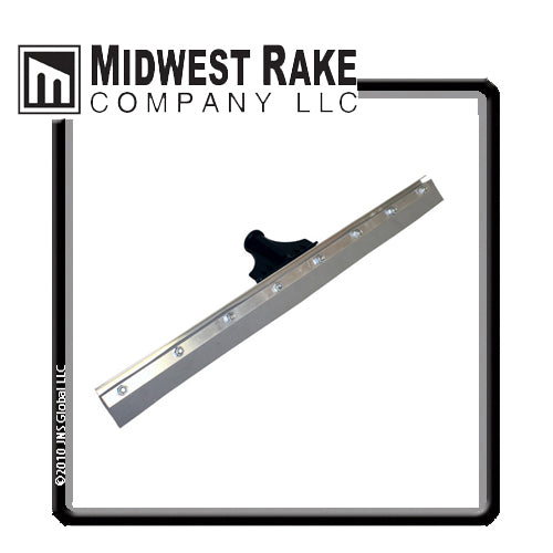 "Midwest Rake Speed Squeegee, 24"", 1/8"" Notch, Gray EPDM"