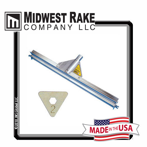 "Midwest Rake® 24"" Gauge Rake with Size 2 [1/8""] CAM® Set, Threaded Handle Adapter"