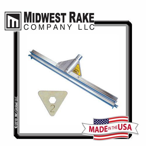 "Midwest Rake 24"" Gauge Rake with Size 2 [1/8""] CAM Set, Threaded Handle Adapter"