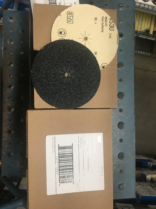 3M™ Resinite™ 051115-09188 Coated Surface Floor Disc, 6 in Dia, 5/16 in, 36/Extra Coarse, Aluminum Oxide Abrasive 100pc/Box