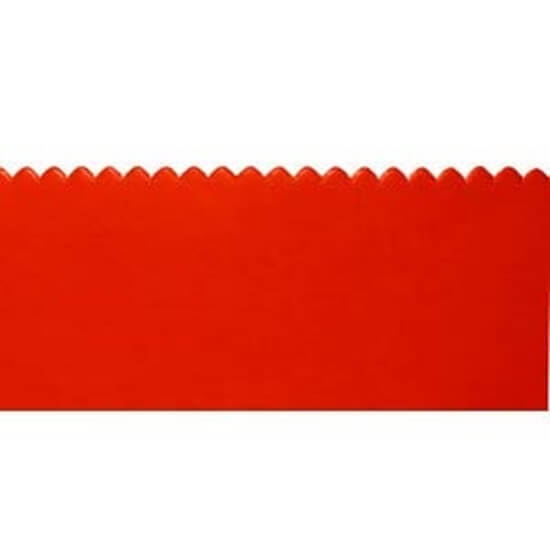 "24"" Red Rubber Squeegee Blade, 3/16"" Notch - Single Side"