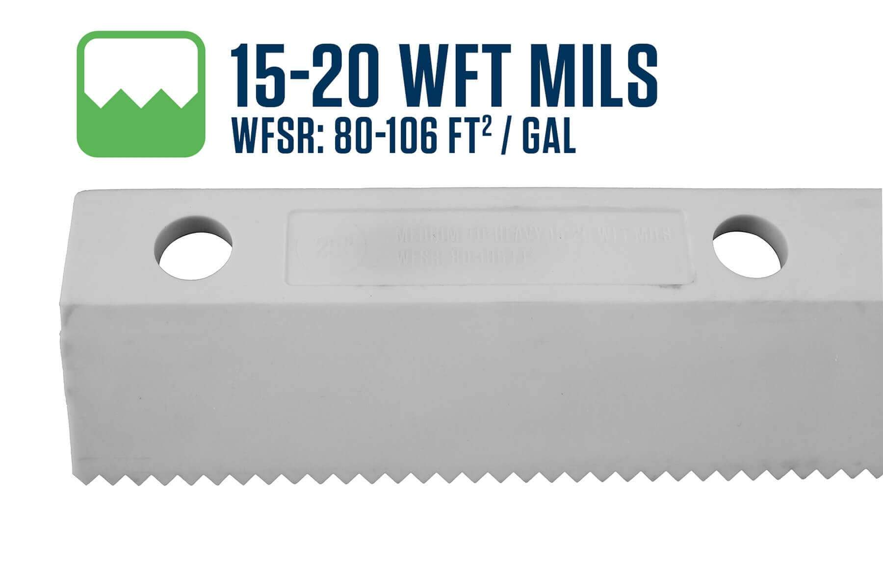 "18"" Easy Squeegee 15-20 WFT Mils Blade"