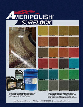 Ameripolish -  Surelock Dyes (CHEMICALLY BONDING DYES FOR POLISHED CONCRETE)