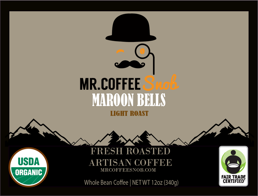 Maroon Bells USDA Certified Organic Coffee-Light Roast